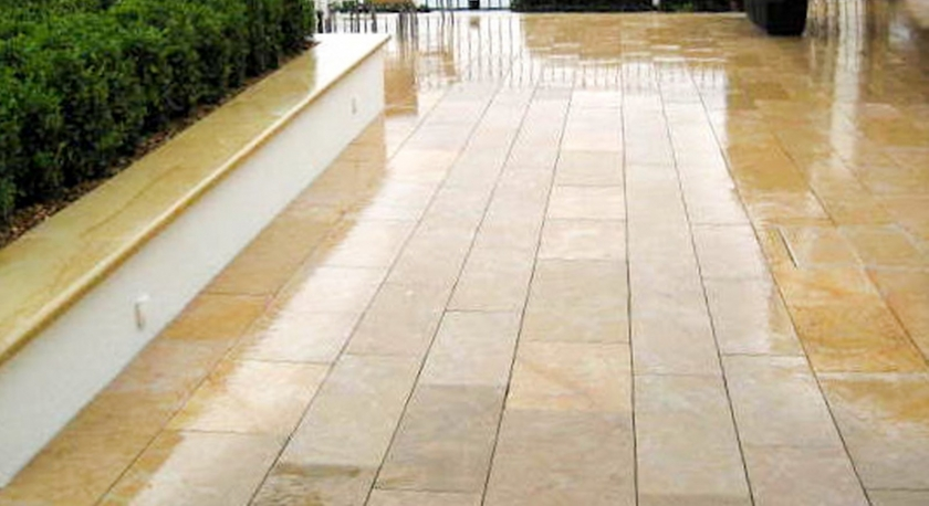 Terrace natural stone germa paysages votre paysagiste for Natural terrace